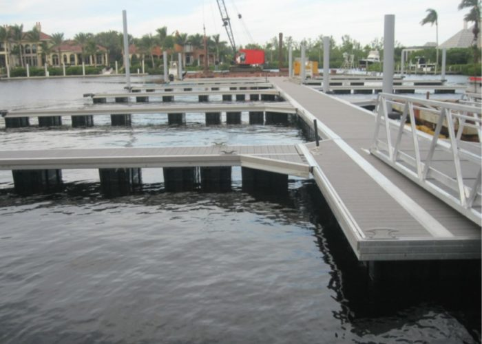 New docks were being installed at St. Charles Yacht Club in Fort Myers when Hurricane Irma hit in September.