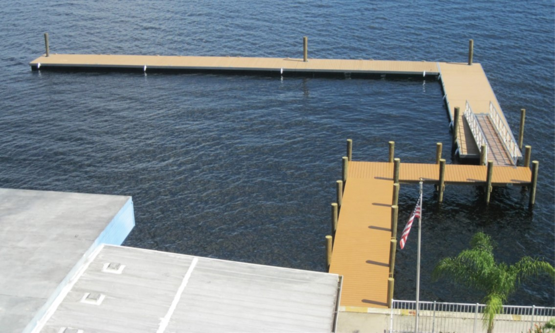 The floating dock and gangway installed at the Best Western on the Fort Myers waterfront withstood Hurricane Irma in September.